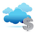 Cloud and dollar Royalty Free Stock Image