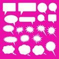 Cloud download vector iconSet of speech bubbles. Blank empty vector white speech bubbles. Cartoon balloon word design. Royalty Free Stock Photo