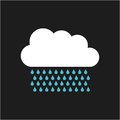 Cloud with drops rain isolated icon