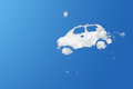 Cloud eco car on blue sky Royalty Free Stock Photo