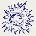 Cloud after the explosion doodle style Royalty Free Stock Photos