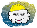 Cloud face Stock Photo