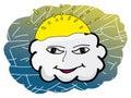 Cloud face Stock Photo