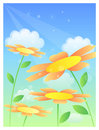 Cloud & flower Royalty Free Stock Images