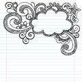 Cloud Frame Border Sketchy Doodle Vector Illustrat Stock Photos