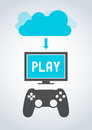 Cloud Gaming Royalty Free Stock Images
