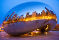 Cloud gate chicago march view of the sculpture in millennium park in chicago on march the sculpture is nicknamed the bean designed Royalty Free Stock Images
