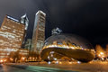 Cloud Gate at night, Chicago Royalty Free Stock Photo