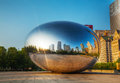 Cloud gate sculpture in millenium park chicago may on may chicago il it s a public by indian born british artist Royalty Free Stock Image