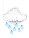 Cloud and hanging rain drops Royalty Free Stock Photo