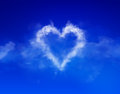 Cloud heart photo compilation and computer drawing elements Stock Images