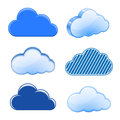 Cloud icon collection Royalty Free Stock Photo