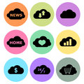 Cloud icon designs set a of for graphic element use Royalty Free Stock Photo