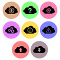 Cloud icon designs set a of for graphic element use Royalty Free Stock Image