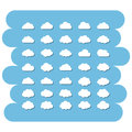 Cloud icon set Royalty Free Stock Photo