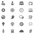 Cloud icon set web and soft vector eps Stock Photos