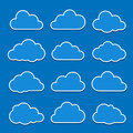 Cloud icons Stock Images