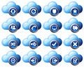 Cloud Icons Blue  - SET 2 Stock Photo
