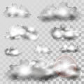 Cloud Icons on Transparent Background