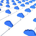 Cloud internet service d concept image Royalty Free Stock Photos