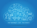 Cloud IOT Internet of Things Smart Home Vector Quality Design wi Royalty Free Stock Photo