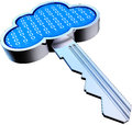 Cloud key d rendering of an safety concept Stock Images