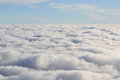 Cloud layer lots of white puffy Royalty Free Stock Images