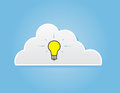 Cloud lightbulb single in a Stock Photo