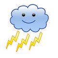 Cloud with Lightning [01] Stock Image