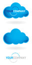 Cloud logo design modern for your company Royalty Free Stock Photos