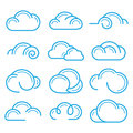 Cloud logo symbol sign icon set vector design elements Royalty Free Stock Photo