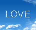 Cloud love Royalty Free Stock Image