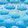 Cloud love music note seamless pattern Royalty Free Stock Photo