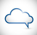 Cloud message speech bubbles illustration design over white Royalty Free Stock Image