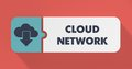 Cloud Network Concept in Flat Design. Stock Image