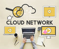 Cloud Network Storage Technology Connection Concept Royalty Free Stock Photo