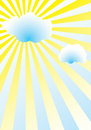 Cloud over sun Royalty Free Stock Image