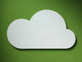Cloud on the paper background cutted from lies Stock Photo