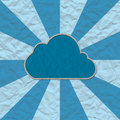 Cloud paper craft Stock Image