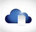 Cloud paper illustration design over a white background Royalty Free Stock Photo