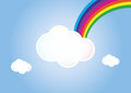 Cloud rainbow Royalty Free Stock Photos