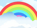 Cloud and rainbow background Royalty Free Stock Photos