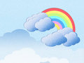 Cloud and rainbow background Royalty Free Stock Images