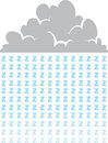 Cloud raining letter zs representing sleep Royalty Free Stock Photo