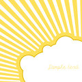 Cloud with rays. Vector Stock Photo