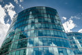 Cloud reflections on a modern glass building Royalty Free Stock Photo