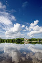 Cloud reflections in the river. Royalty Free Stock Photo