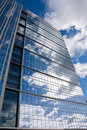 Cloud reflections skyscraper Royalty Free Stock Photo