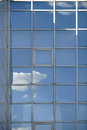 Cloud reflections in the windows Royalty Free Stock Photo