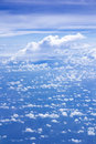 Cloud scatter on blue sky top view of in nature Royalty Free Stock Image